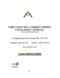 Download Loan Application PDF - Community Business